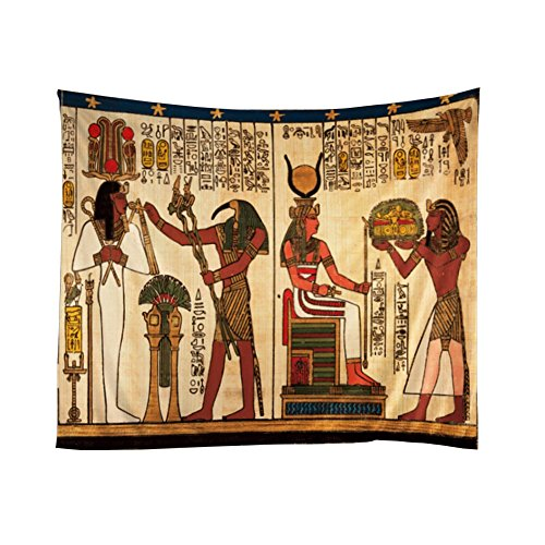 Xinhuaya RetroTapestry Ancient Egyptian Ethnic Tribal Totem Art African Anubis Wall Hanging for Bedroom Polyester Fabric Cottage School Dorm Wall Art Home Decoration Decor 51 W x 60 L-Inches (Egyptian Decorations)