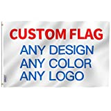 Anley Custom Flag 3x5 Ft Customized Flags Banners - Print Your Own Logo/Design/Words - Vivid Color, Canvas Header and Double Stitched - 100D Polyester with Brass Grommets 3 X 5 Ft