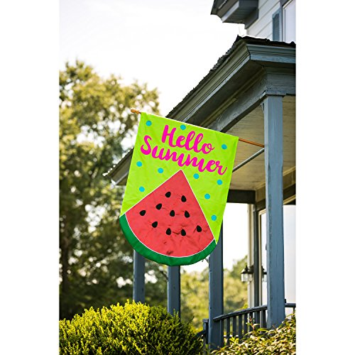hello summer watermelon applique oversize