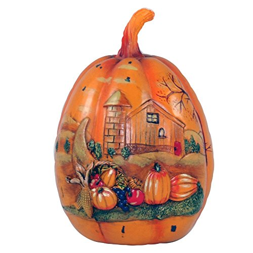 Gerson Carved Pumpkin Harvest Statuette