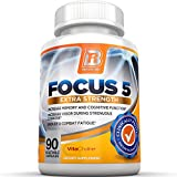 BRI Nutrition Focus5 - Focus Formula - Brain Function Booster Supplement - 90 Veggie Capsules - With Vitamins, Minerals, Herbs and Nootropics