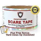 BEST Bird Repellent Scare Tape + FREE BONUS - Repels Birds & Daytime Predators - Huge 150 Ft. Roll