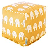 Majestic Home Goods Yellow Ellie Small Cube