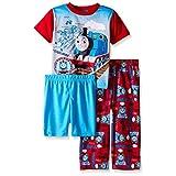 Thomas The Train Boys Blue Prints and Blue Engines 3-Piece Pajama Set