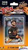 Baltimore Orioles 2018 Topps Baseball EXCLUSIVE Special Limited Edition 17 Card Complete Team Set with Jonathan Schoop, Manny Machado & Many More Stars & Rookies! Shipped in Bubble Mailer! WOWZZER!