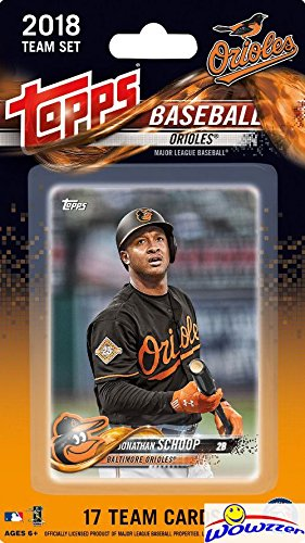 Baltimore Orioles 2018 Topps Baseball EXCLUSIVE Special Limited Edition 17 Card Complete Team Set with Jonathan Schoop, Manny Machado & Many More Stars & Rookies! Shipped in Bubble Mailer! WOWZZER! (Set Topps Mlb Team)