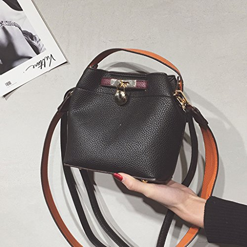 Crossbody Cube color Wide Bags Bags Black Bags Black Color Contrast Wild Bags Body Shoulder Simple Woman Shoulder Cross Roscloud 6aqRwvx