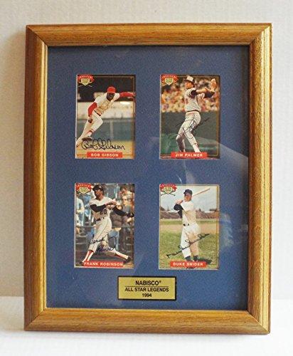 1994-nabisco-all-star-legends-autographs-gibson-snider-palmer-robinson-framed