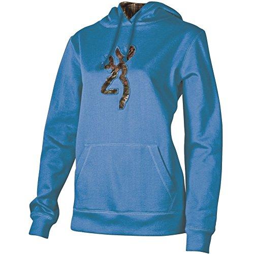 Womens BrowningBuckmark Camo Sweatshirt Brilliant Blue Hoodie Medium