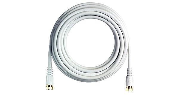 boostwaves bw35 W 35 de alta definición HDTV blanco coaxial cable, baja pérdida: Amazon.es: Electrónica