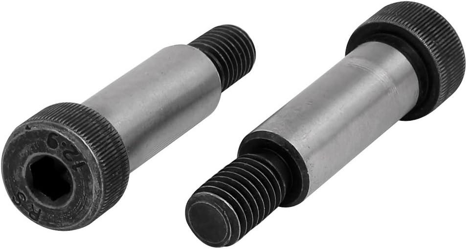 uxcell 6pcs 40Cr Steel Shoulder Bolt 13mm Shoulder Dia 35mm Shoulder Length M10x17mm Thread