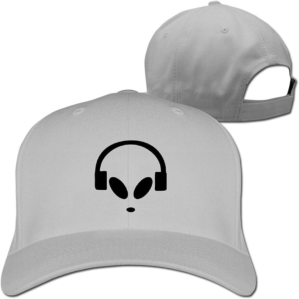 Alien DJ Fashion Adjustable Cotton Baseball Caps Trucker Driver Hat Outdoor Cap Gray