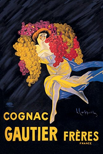 """BuyEnlarge 0-587-00200-x-DC-36x24_032017 Cognac Gautier Frères France by Leonetto Cappiello Wall Decal, 36"""" H x 24"""" W from BuyEnlarge"""