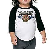 Yu Gi Oh Duel Monsters Kuriboh Children's 3/4 Sleeve Baseball T Shirt 4 Toddler Black