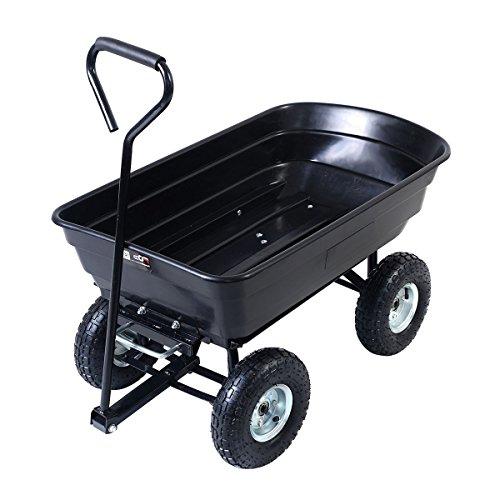 Black Garden Wagon Dump Cart 650LB by FDInspiration