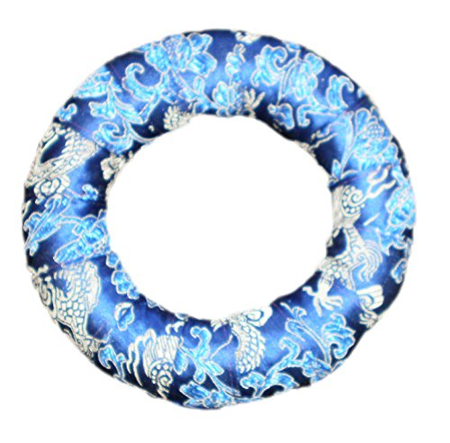 Handmade Nepalese Tibetan Ring for Singing Bowls (MEDIUM) by SACRED SOUNDS (BLUE)
