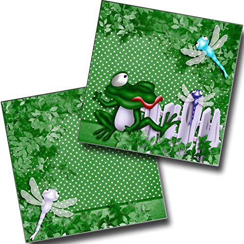 (Frogger NPM - Premade Scrapbook Pages - EZ Layout 3977)