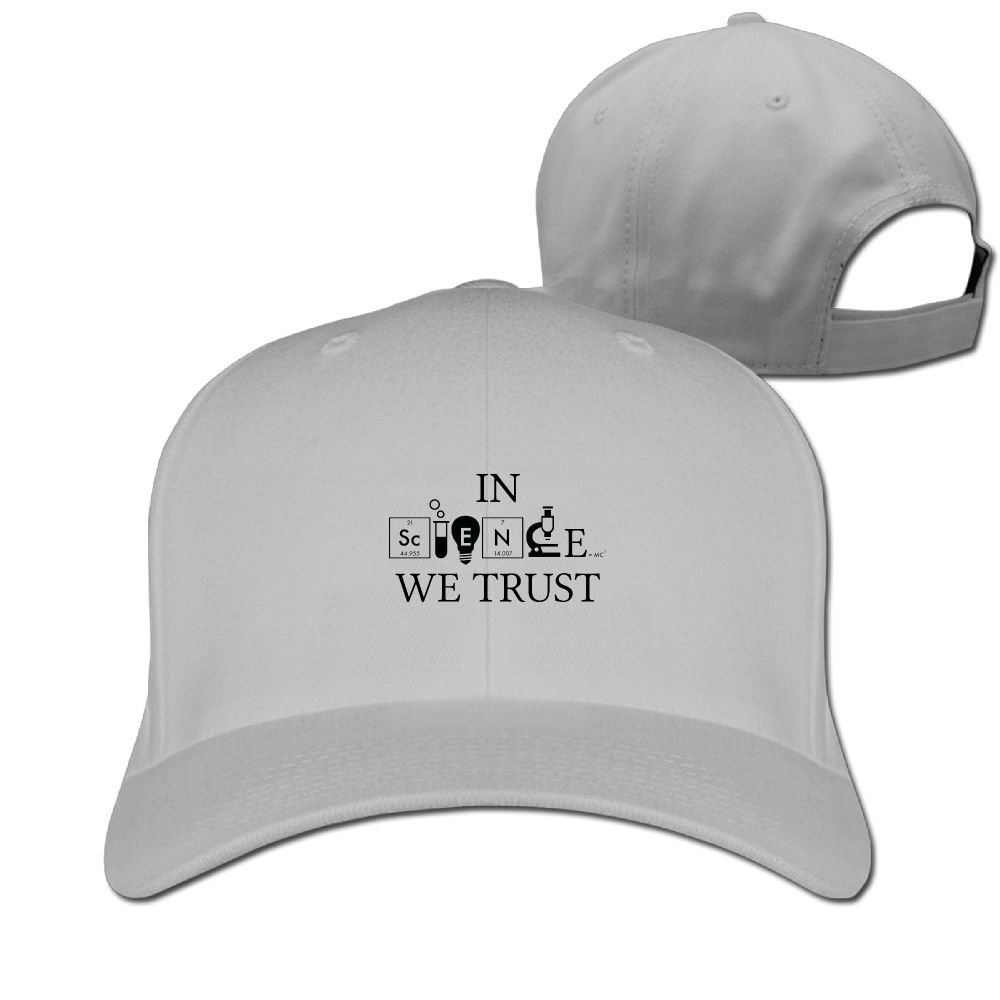 e99d91dbe2a Amazon.com  in Science We Trust Solid Travel Cap Baseball Cap Sport Hats for  Men and Womens  Clothing