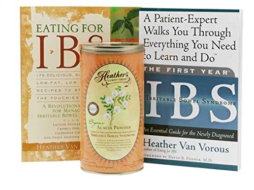 Heather's Irritable Bowel Syndrome Starter Kit - Eating for IBS, First Year IBS, Tummy Fiber Acacia Senegal Can (Over 20% Off!)