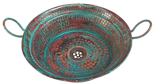 Egypt gift shops Patinated Vessel Copper Miners Sink Bath Wash Basin Building