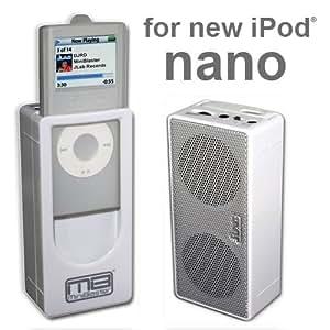 JLab Audio Miniblaster Portable Speaker for iPod nano 2G (White)