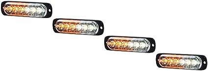 Ultra Slim 6-Watt Amber//White LED Strobe