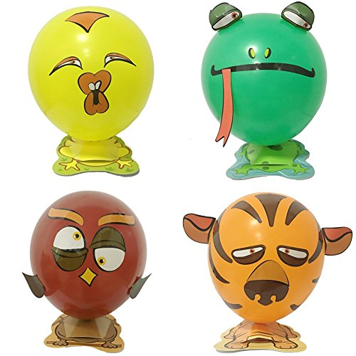 - HOTOY DIY Animal Balloons Birthday Party Decor Children Kids Gift - Including Chick, Tiger, Frog, Owl