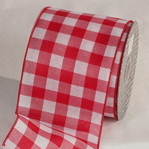 The Ribbon People Classic Red and White Gingham Wired Craft Ribbon 4