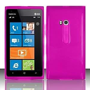 For Nokia Lumia 900 TPU Gel Skin Case Cover w/ Matte finish - Hot Pink