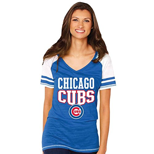 Women's Ladies Officially Licensed MLB Baseball T-Shirt - Chicago Cubs - 2X