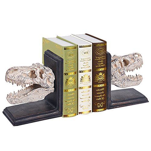 WELLAND Dinosaur Bookends, 7-inch