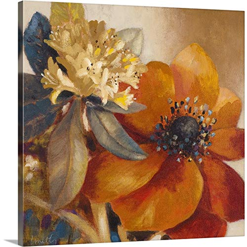 Life is Blooming Burnt Orange Wall Art Print