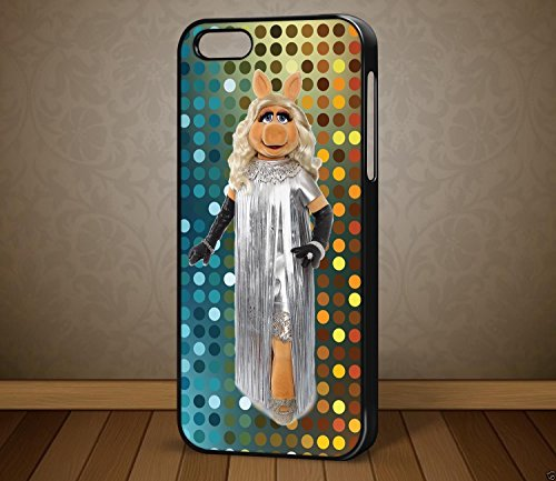 De The Muppets Miss Piggy Housse étui pour téléphone pour iPhone et Samsung Galaxy Galaxy S7(Noir)