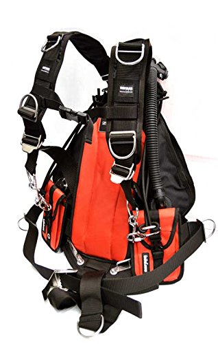 Sopras Tek Side Mount System Jacket Red Scuba Diving Tech Dive Sidemount Harness Similar Hollis Apeks WSX X-Tec Scubapro Zeagle BCD Ranger Technical Scuba Diving BC