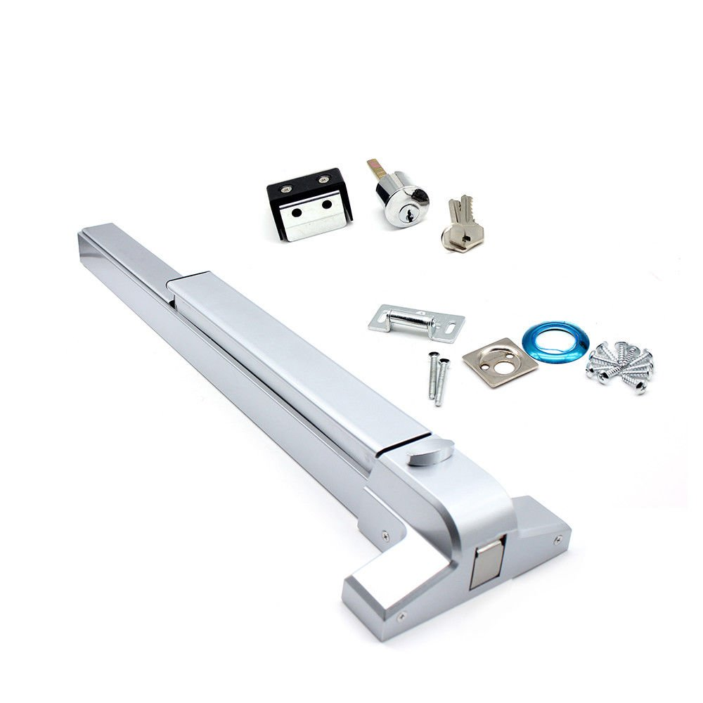 Door Push Bar Panic Exit Device Fireproof Emergency Lock Commercial Single Door