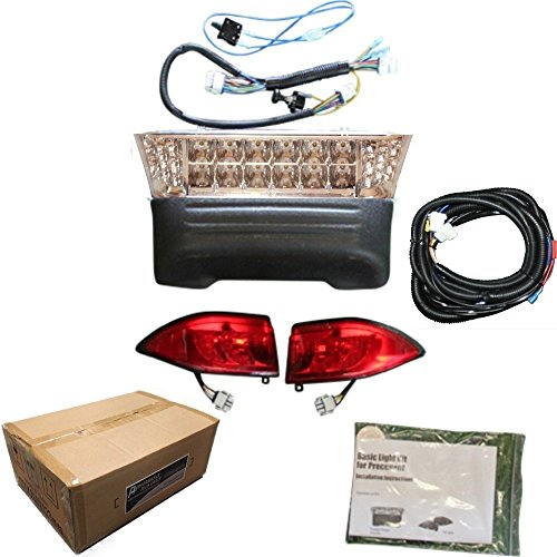 Performance Plus Carts Club Car Precedent Golf Cart All LED Headlight Tail Light Kit 2008.5 and Up (Club Car Golf Cart Tail Lights)