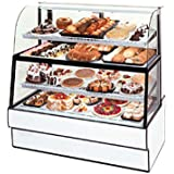 Federal Industries CGR5060DZH Curved Glass Horizontal Dual Zone Bakery Case