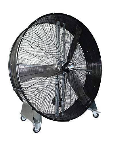 Maxx Air BF60 High Velocity Industrial Belt Drive Barrel Fan. Heavy Duty Rolled Steel Housing, 19,000 CFM (60 Inch Barrel Fan)