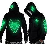 Unisex-Adult/Teens Galaxy Unique Design Hoodie Luminescent Hoody Jacket...