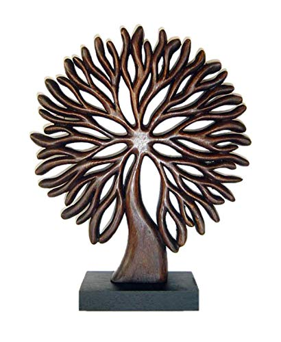 (Decozen Handmade Wooden Tree of Life Décor a Symbol of Growth and Strength Made by skilled Artisans for Farm House Home Decor Living Rooms Bedroom Kitchen Console Table 4 x 12 x 14 inches )