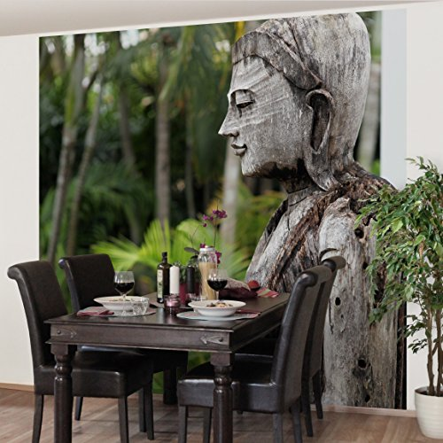 Non-woven Wallpaper Premium - Indonesia Buddha - Mural Square wallpaper wall mural photo feature wall-art wallpaper murals bedroom living room by apalis