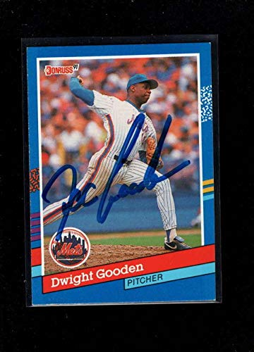 Autographed Card 1991 Donruss - 1991 Donruss #266 Dwight Gooden Authentic Autograph Signature Ay0284 - Baseball Slabbed Autographed Cards