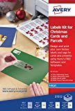 Avery S1512 Labels Kit for Christmas Cards and Parcels for Inkjet Printers
