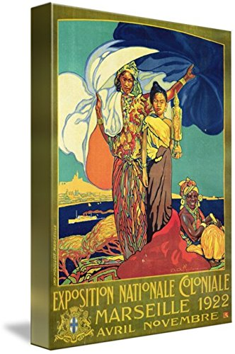 Thailand National Costume Female (Wall Art Print entitled Poster Advertising The 'Exposition Nationale Colo by The Fine Art Masters | 16 x 22)