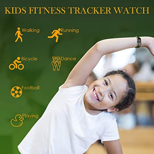 Kids Fitness Tracker Watch, AKIVIDA Activity Tracker Pedometer Bracelet with Alarm Clock Calorie Step Counter Sport Watch Gift for Kids Girls Boys Teens 2