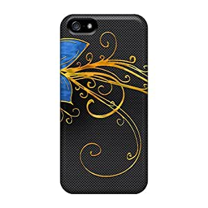 5/5s Scratch-proof Protection Case Cover For Iphone/ Hot Blue Flower Phone Case