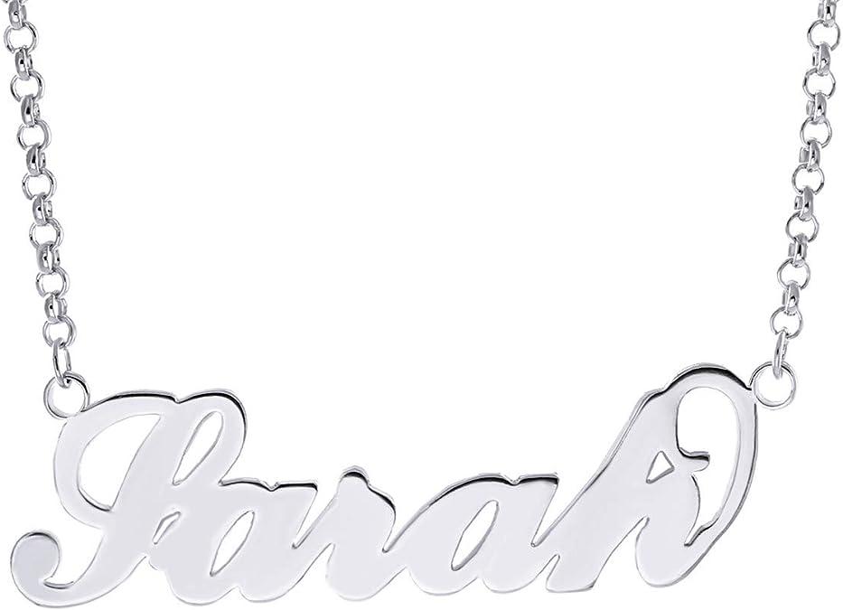 Plata esterlina 925 Collar de nombre Rebecca para Mujer Chicas Colgante Regalo Listo Stock