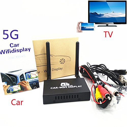 5G Wifi Mirrorlink Box,Car wifi screen Mirroring Video Adapter HDTV Airplay Miracast For iOS Android Duplicate Phone to Car Home TV Projector with RCA(CVBS) HDMI Output