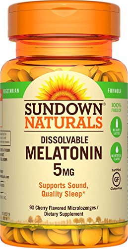 Sundown Naturals Melatonin 5 mg, 90 Quick Dissolve Microloze