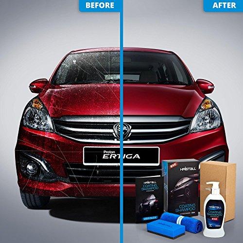 (Proton Ertiga MPV Coating Shampoo - Kristall Car Shampoo WITH Nano Coating (Car Paint Protection, Super Hydrophobic, Deep Gloss, 6.5 pH Balanced Neutral Shampoo))